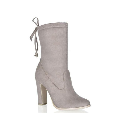 Cat Ankle Boots - Taupe Suede