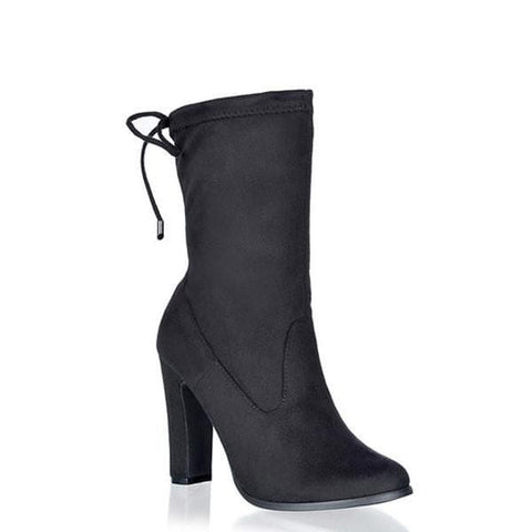 Cat Ankle Boots - Black Suede