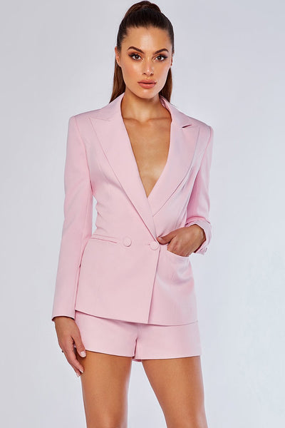 Charlize Tailored Shorts - Light Pink - MESHKI