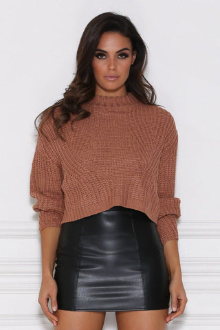 Kaia Knitted Jumper - Camel