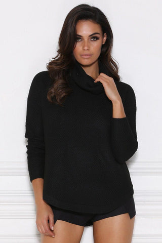 Juliette Knitted Jumper - Black