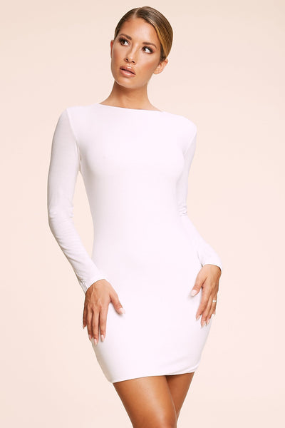 Kennedy Long Sleeve Mini Dress - White