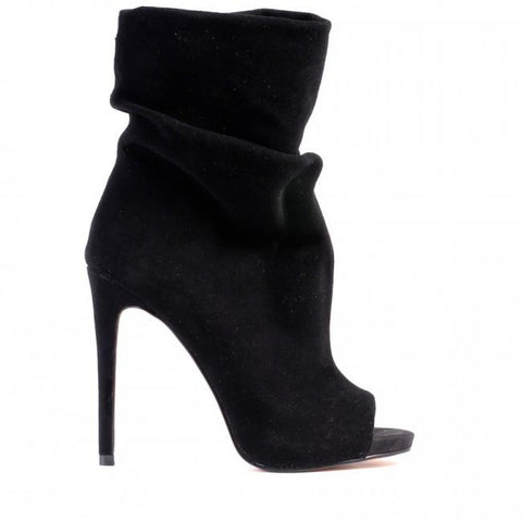 Davis Slouch Ankle Boots - Black Suede