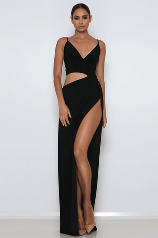 Lee Cut-Out Gown - Black