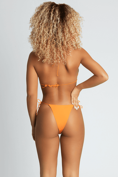 Amalia Tie Up Bikini Bottoms - Neon Orange - MESHKI