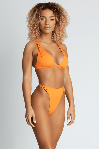 Aadya Bikini Top - Neon Orange - MESHKI