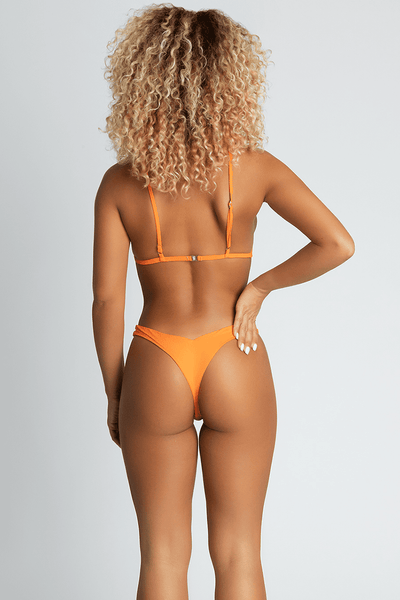 Luciana Bikini Bottoms - Neon Orange - MESHKI