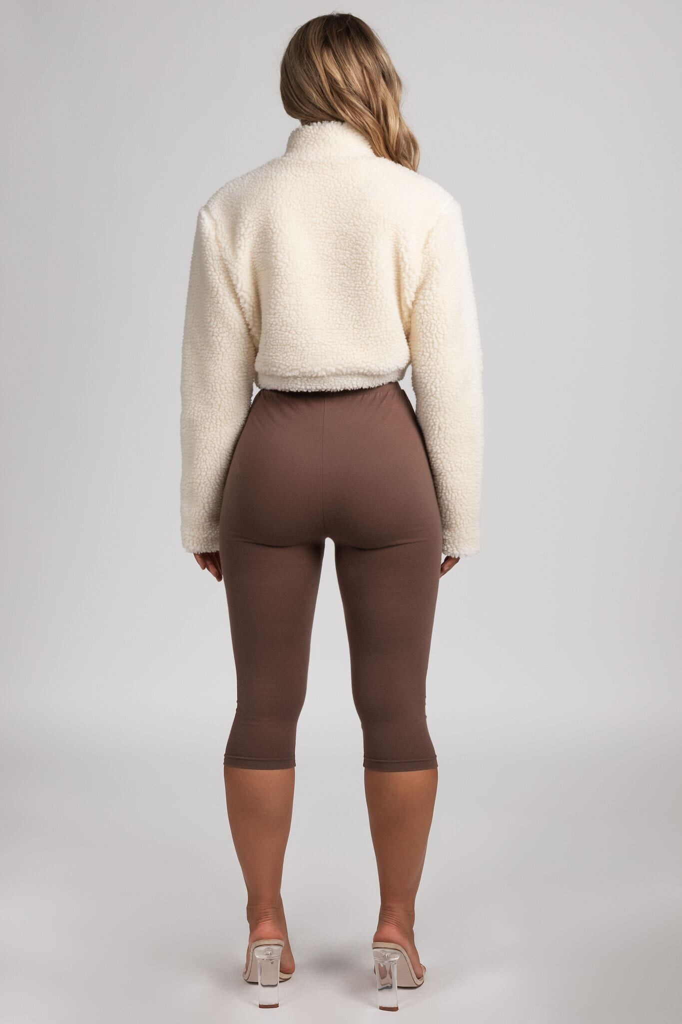 ad7ab92dcb Heather Cropped Leggings - Chocolate - MESHKI