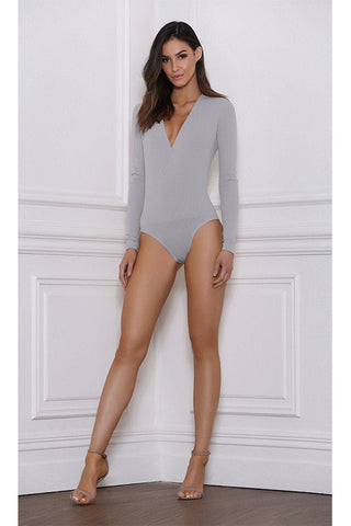 Alba Long Sleep Wrap Bodysuit - Dove
