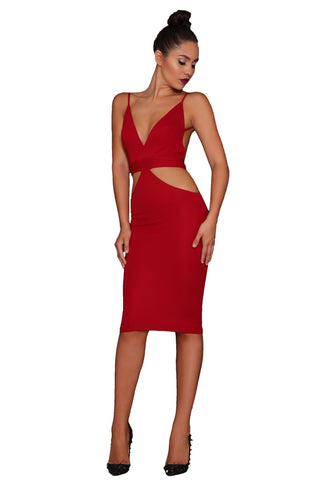 Star Dress – Wine Red
