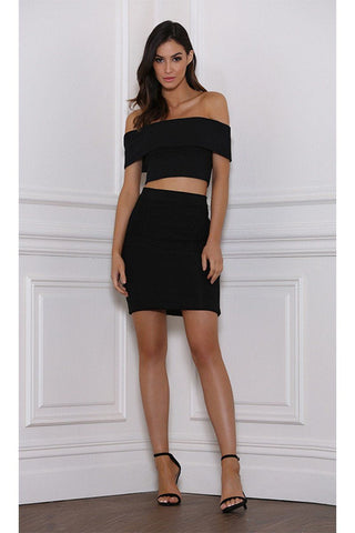 Vida Pencil Mini Skirt - Black