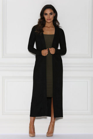 Blair Suede Coat - Black
