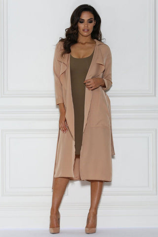 Dulce Duster Trench Coat -Nude
