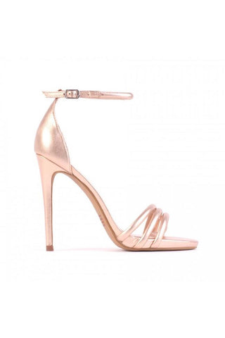Daze Strappy Heels - Rose Gold Kid