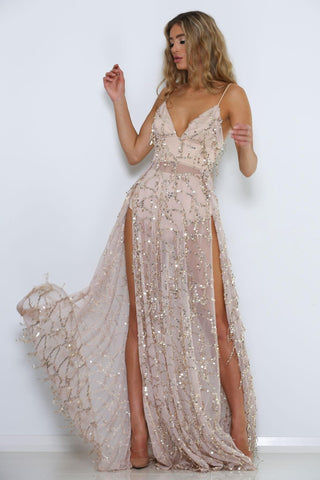 Casino Royal Dress - Nude
