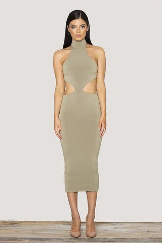 Verali Dress - Light Khaki