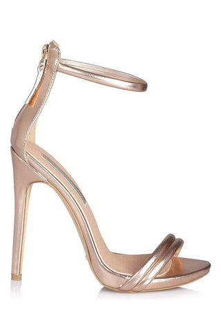 Liana Strap Stiletto Heel - Rose Gold - MESHKI