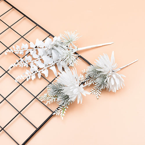1 bundle Artificial plants Decorative flowers wreaths wedding Bridal boutonniere diy gifts box home decor christmas scrapbooking - PampasPalace