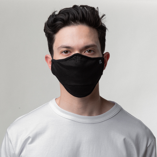 BLACK STRUCTURED FACE MASK 2-PACK