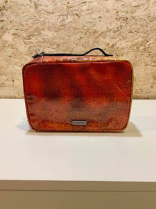 Vienna Toiletry Bag - Burnt Orange/Red