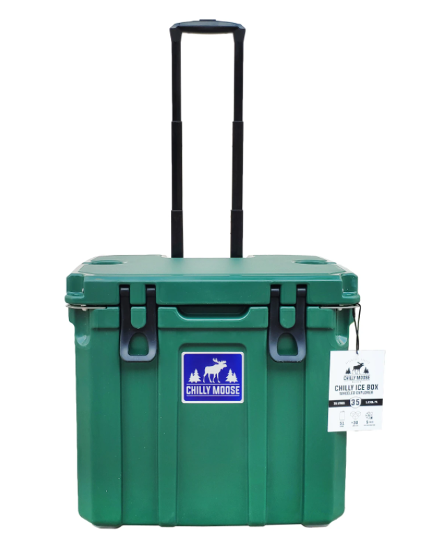 35L Cooler with Wheels - Forest Green