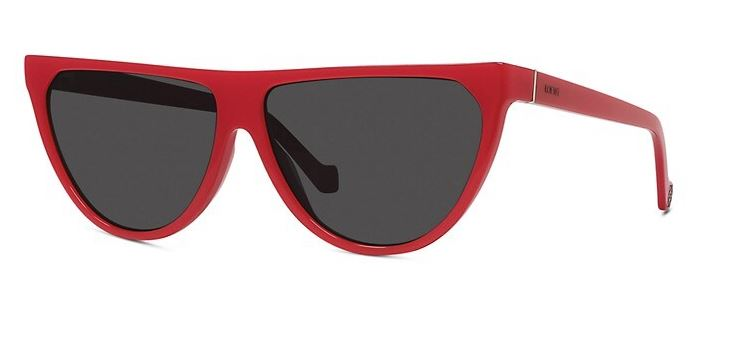 61MM Flat-Top Sunglasses - Red