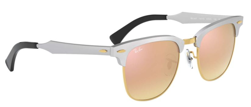 Clubmaster Aluminum Flash Lenses Gradient - Silver