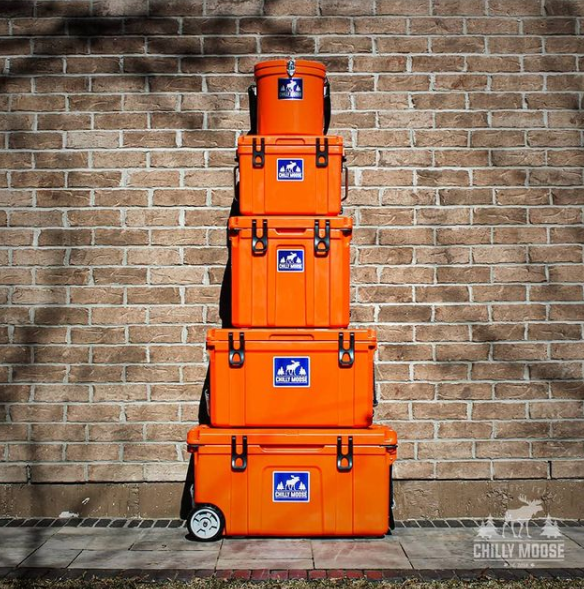 75L Chilly Ice Box Cooler - Blaze Orange