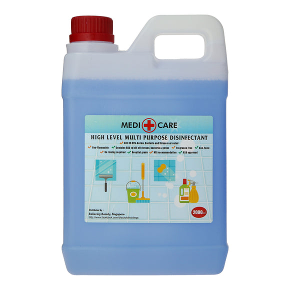 Medi+Care High Level Multi-Purpose Disinfectant 2L