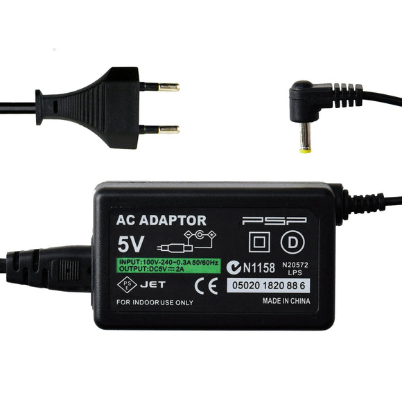 Electronic AC Adapter for PSP 3000/2000/1000 Euro Plug