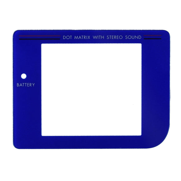 Plastic Screen for GameBoy Blue