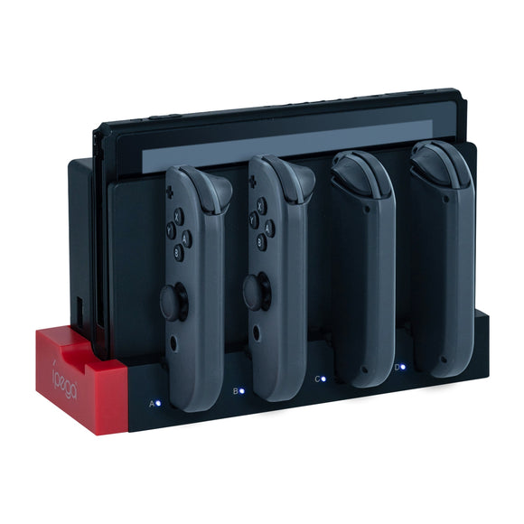 iPega PG-9186 4 in 1 Joy-Con Charging Dock Station with LED Indicator for Nintendo Switch