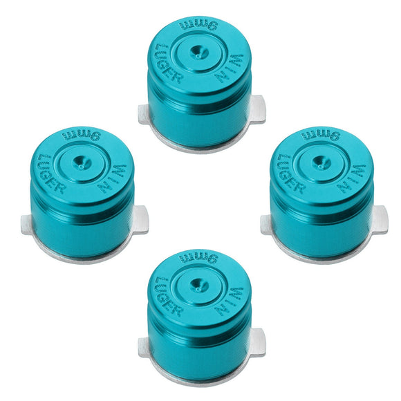 Metal Button Set for Dualshock 3/ 4 Bullet Style Blue