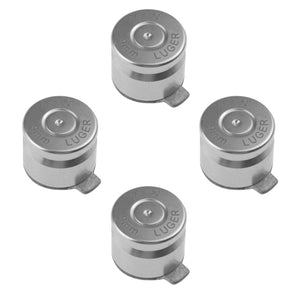 Metal Button Set for Dualshock 3/ 4 Bullet Style Silver
