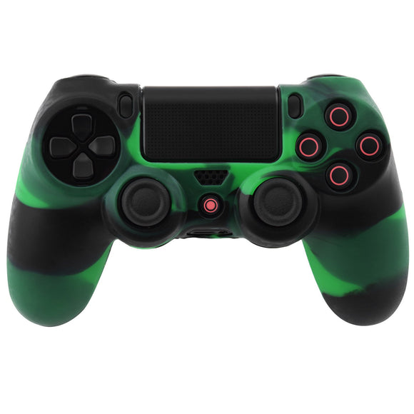 Multi Color Silicon Case for PS4 Dualshock 4 Green Black