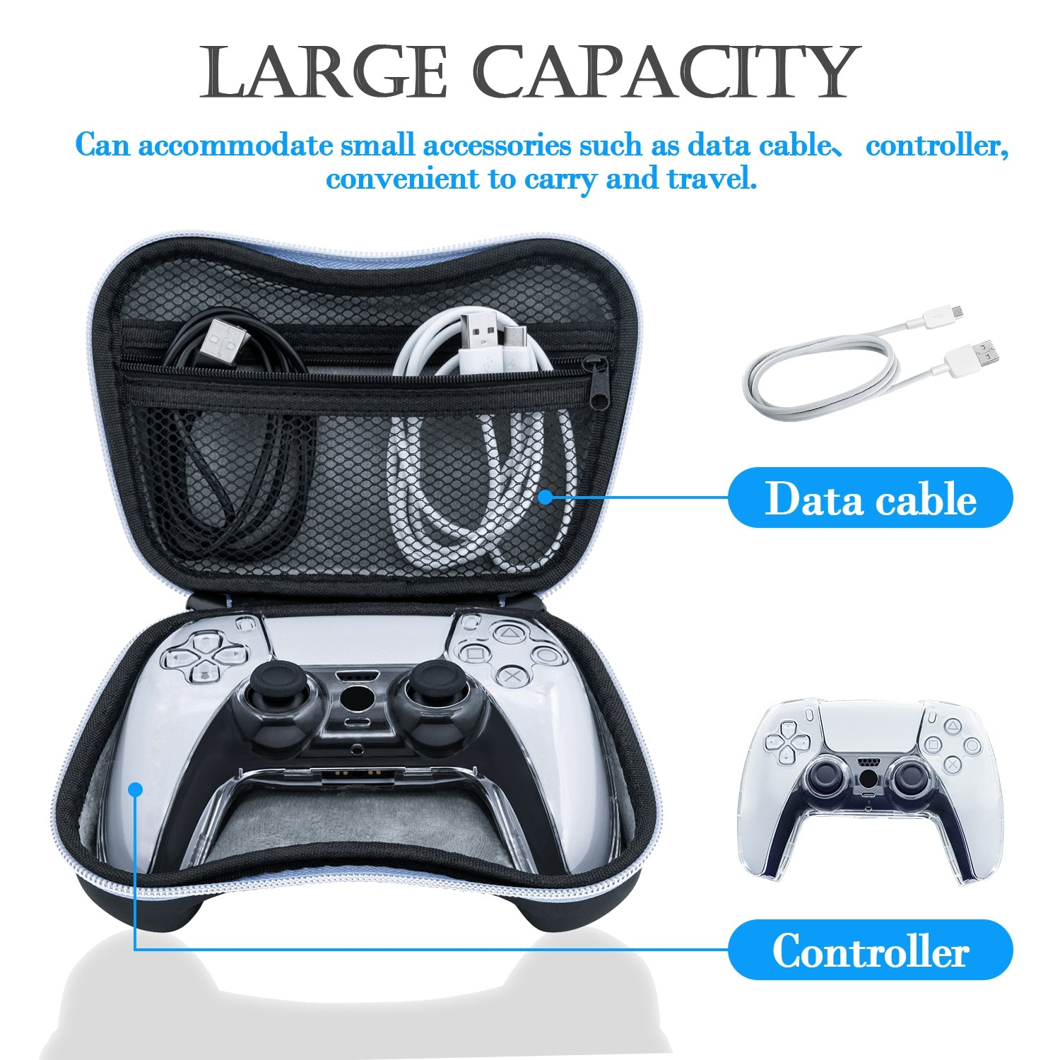 IPLAY 6 In 1 EVA Storage Bag With Crystal Case For PS5 Controller (HBP –  SupremeGameGear
