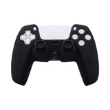 Non-Slip Silicone Protective Case With Thumbstick Cap For PS5 Controller - Black