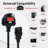 1.2M Power Supply Socket Cable for Xbox One - UK Plug