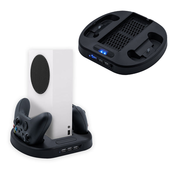Vertical Cooling Stand with Dual Controller Charger for Xbox Series S (KJH-XSS-002)