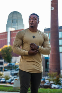 Long Sleeve Day One Essential T-Shirt - Desert Sand