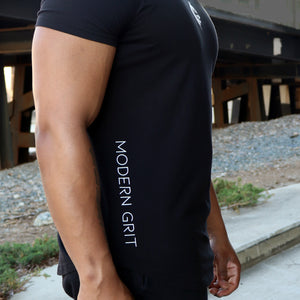 Modern Grit Black Day One Essential Tee - Side