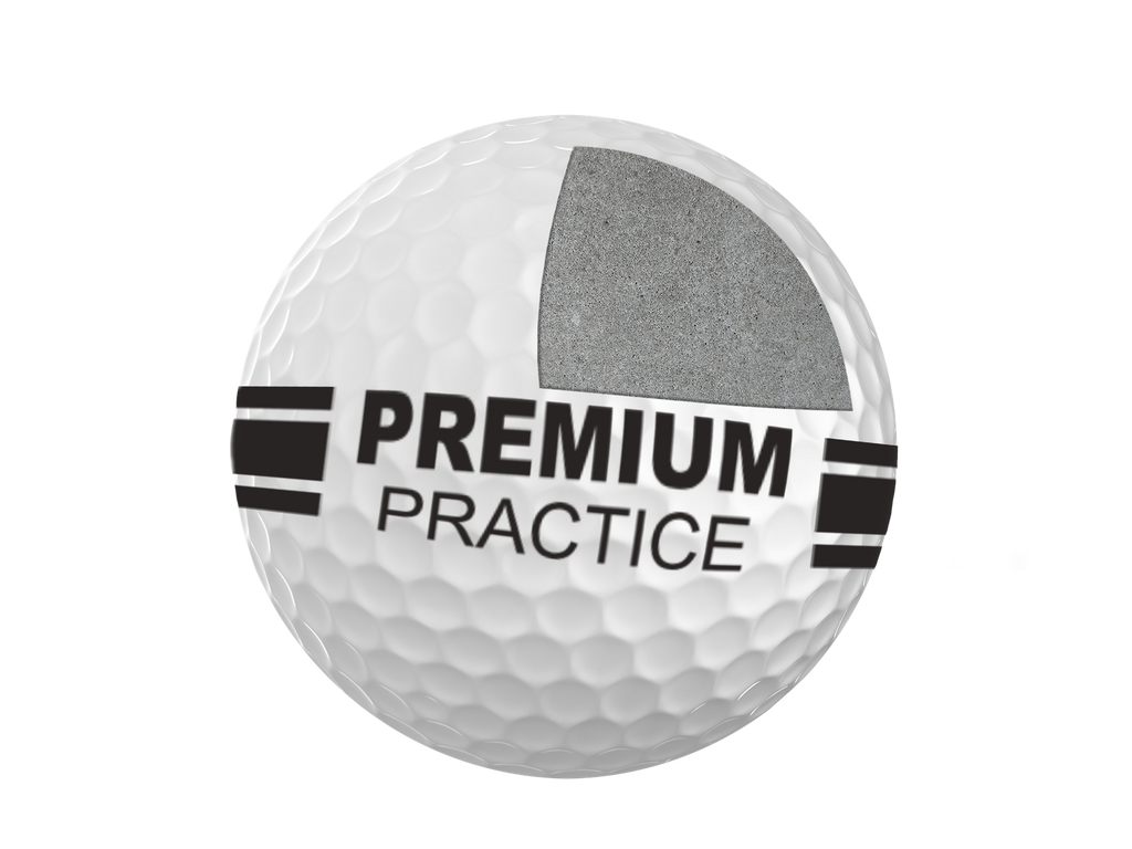 RANGE BALL PREMIUM PRACTICE 2PC White, Box 300 Balls (25DZ)