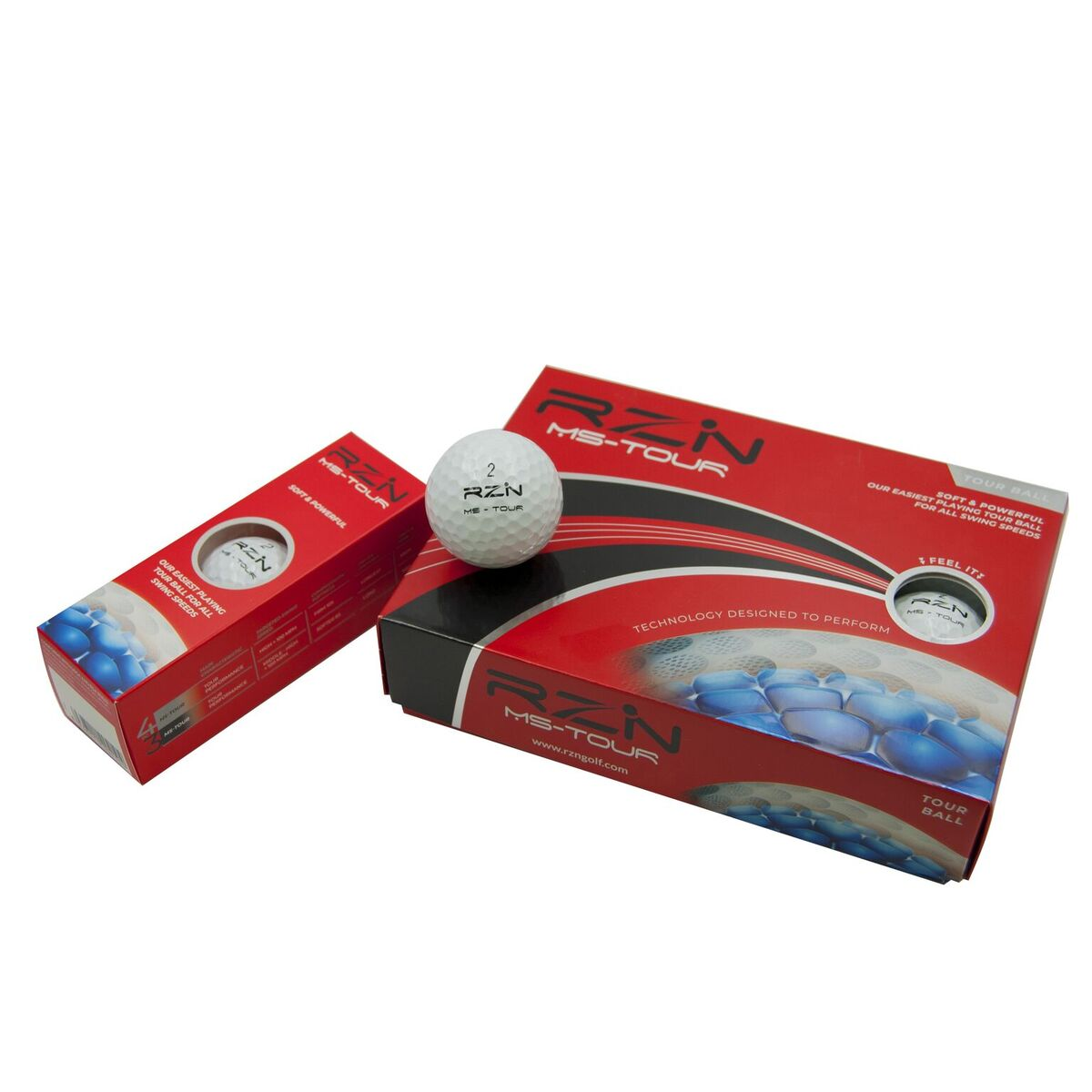 RZN MS Tour Golf Ball, 12 Pack
