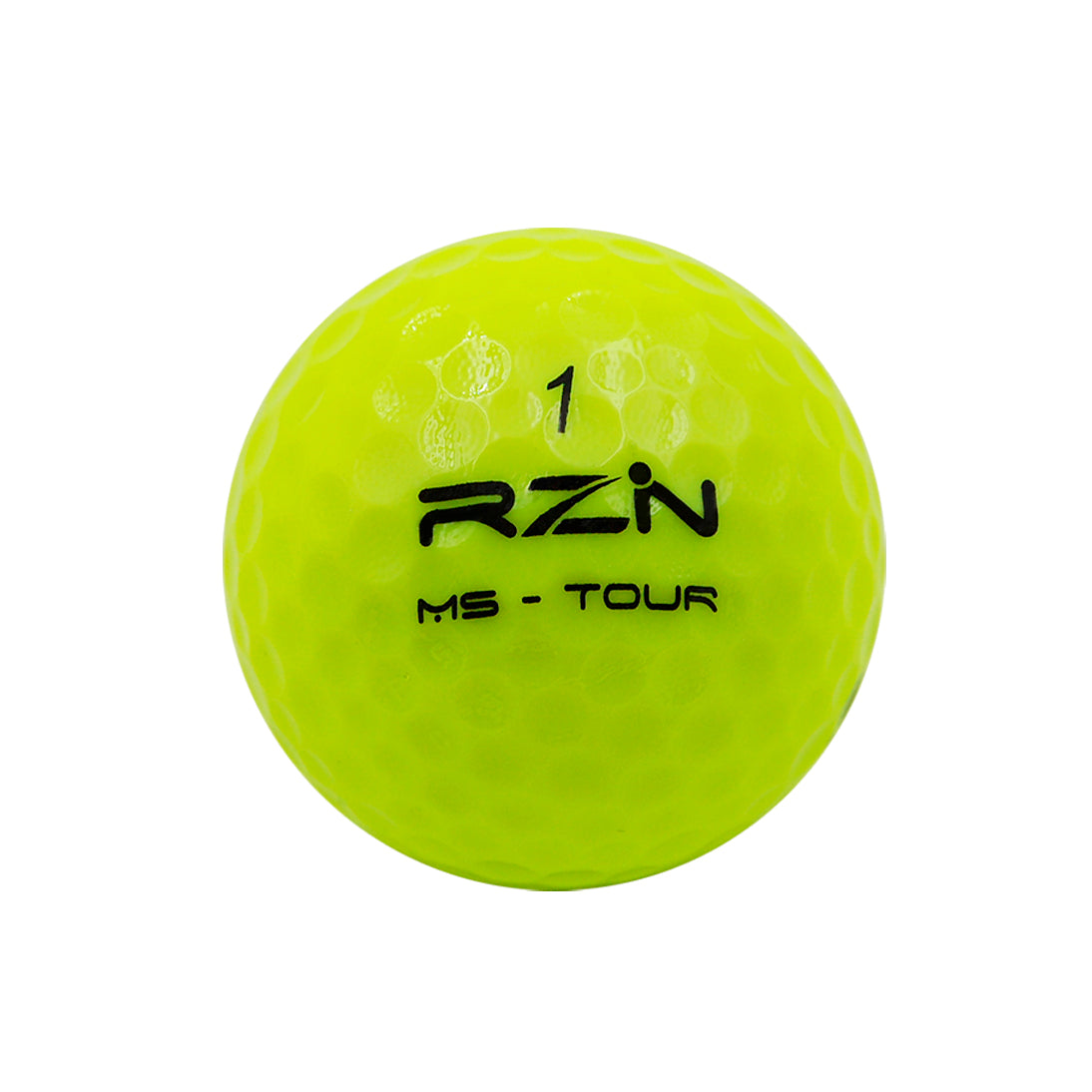 RZN MS Tour Yellow Golf Ball, 12 Pack