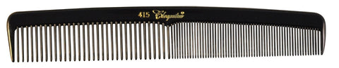 Cleopatra Series 7 inch Round Back Finger Waver Comb Black #415 1Dz - beautysupply123