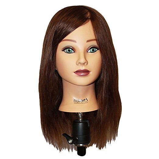HAIRART 100% Human Hair Mia Deluxe 18 Inch Mannequin