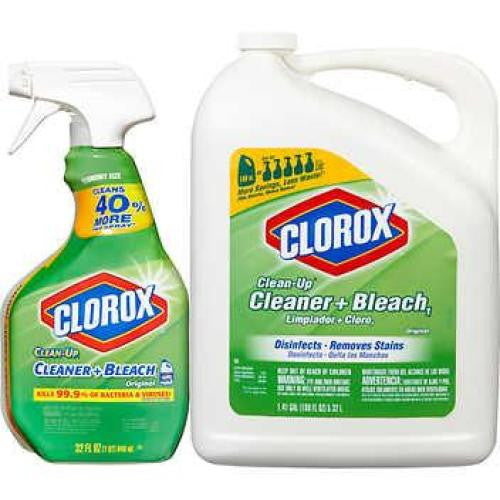 Clorox Clean-Up Cleaner and Bleach, 32 oz with 180 oz Refill