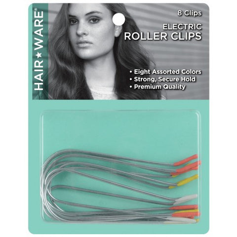 Hairware Electric Roller Clips (8 Clips) - beautysupply123