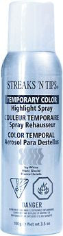 Streaks N' Tips Temporary Color Highlight Spray - Icy White - beautysupply123