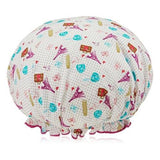 Spa Sister Bouffant Shower Cap, World Traveler